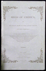 Audubon Fascicle Wrapper Cover